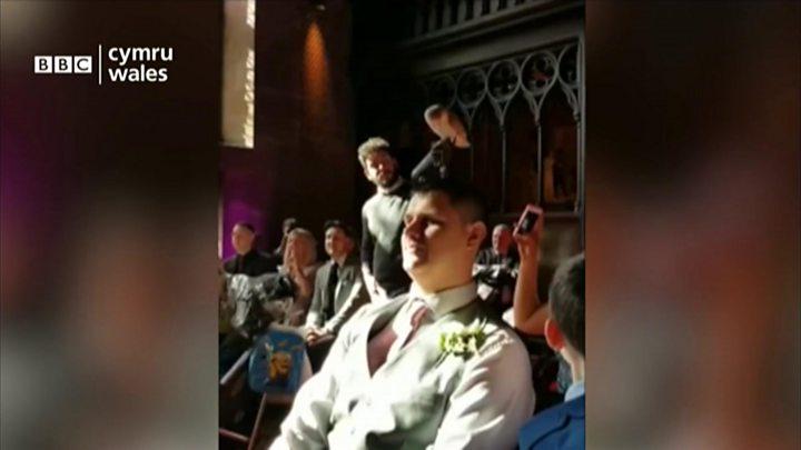 Ring-bearing owl causes chaos at British wedding