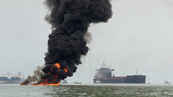 Indonesia Declares State of Emergency After Massive Oil Spill Off Borneo