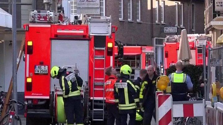 Two killed in Germany as van ploughs into crowd in Muenster