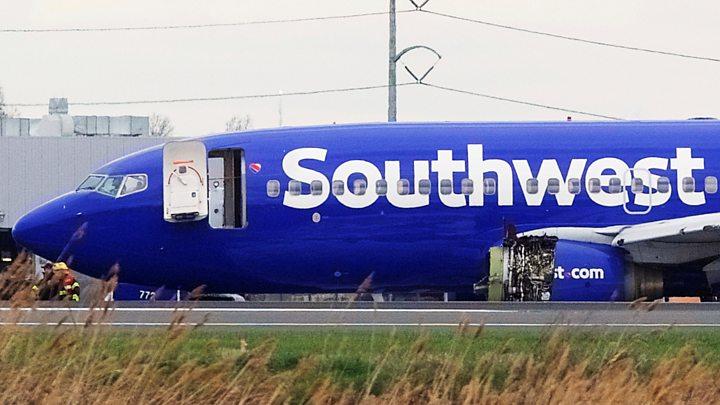 Media playback is unsupported on your device                  El accidente en un avión de Southwest en Filadelfia que dejó una pasajera muerta