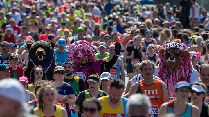 London Marathon 2018 hottest on record