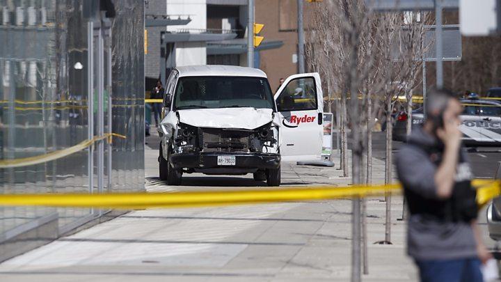 38f90dfd6ff409 Toronto van  Ten dead and 15 injured as pedestrians are hit - BBC News