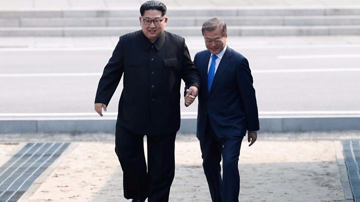 The moment Kim Jong-un crossed into South Korea