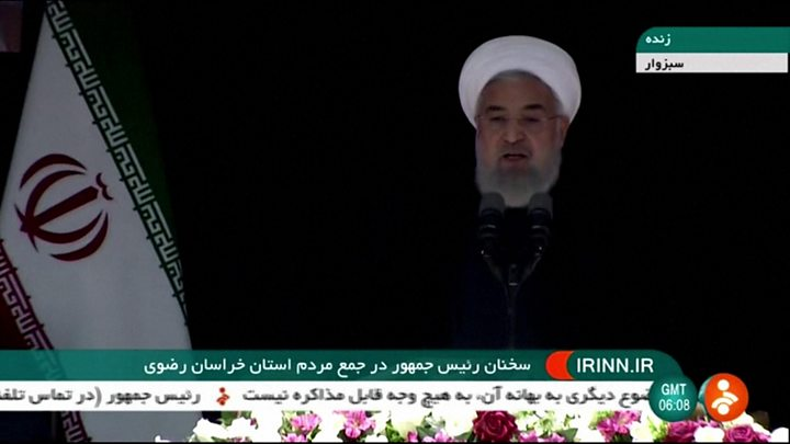 Iran's Rouhani warns Trump of 'historic regret' over nuclear deal