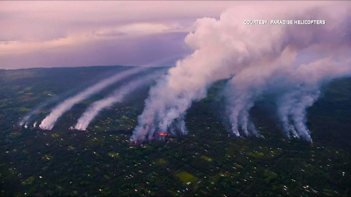 Kilauea volcano burns through Hawaii homes