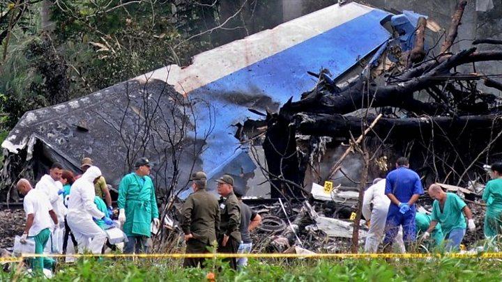 Cuba plane crash site 'very painful' scene