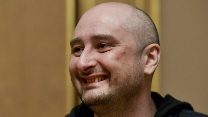 Russian journalist 'back from the dead'