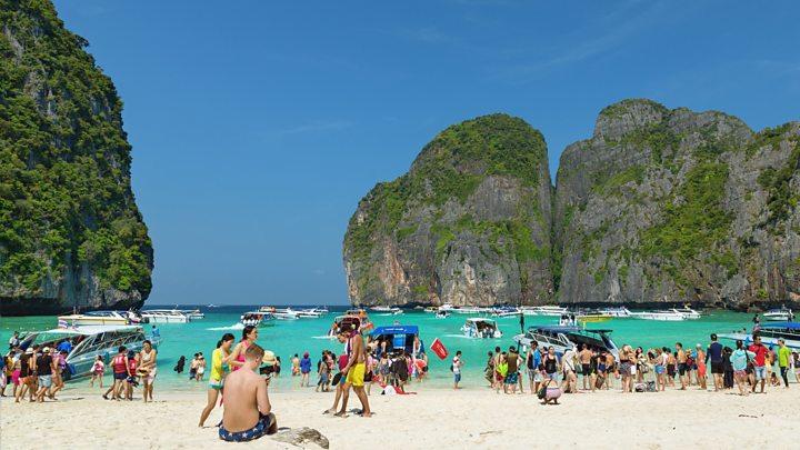 thailand s maya bay from the film the beach shuts bbc news