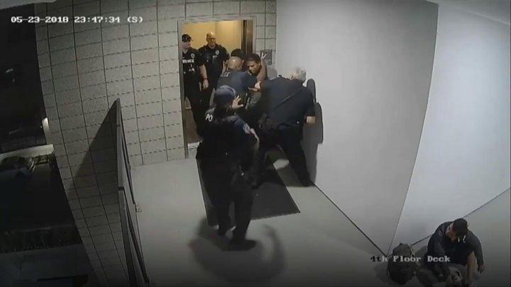 Unarmed man beaten by police