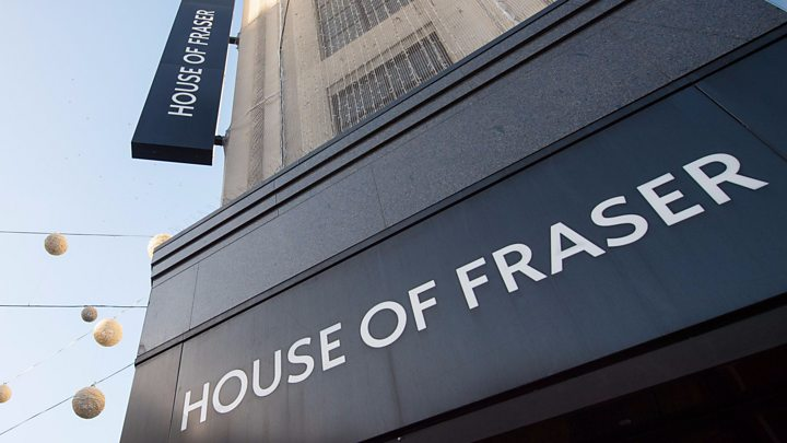 house of fraser to close 31 stores bbc news