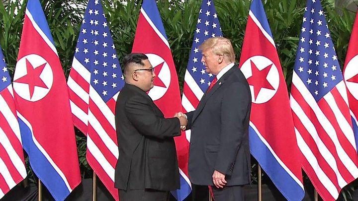 Trump Kim summit: US president hails deal after historic talks