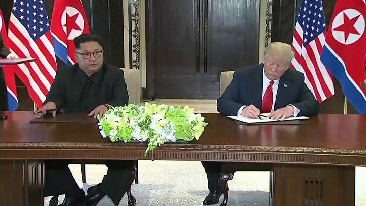 Trump jokingly compares himself to Kim
