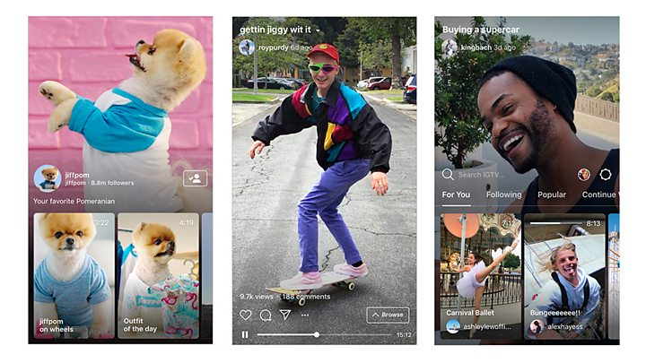 Instagram launches IGTV with videos up to one hour long