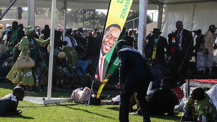 Zimbabwe President Mnangagwa says he was 'inches' from Bulawayo explosion
