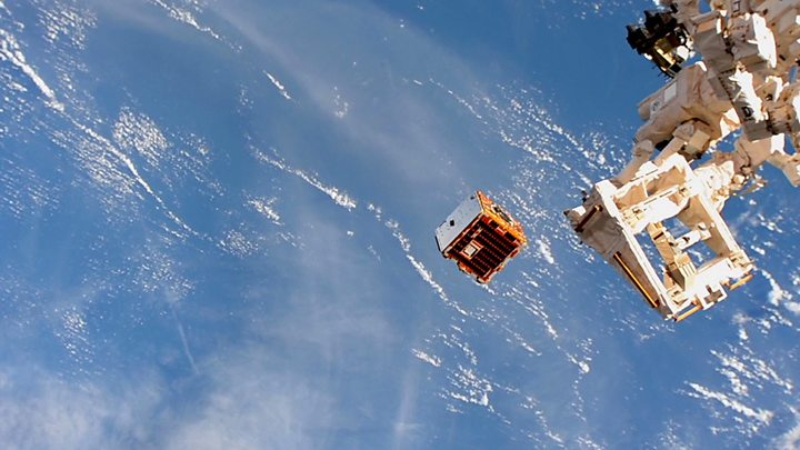 RemoveDEBRIS deploys from the ISS