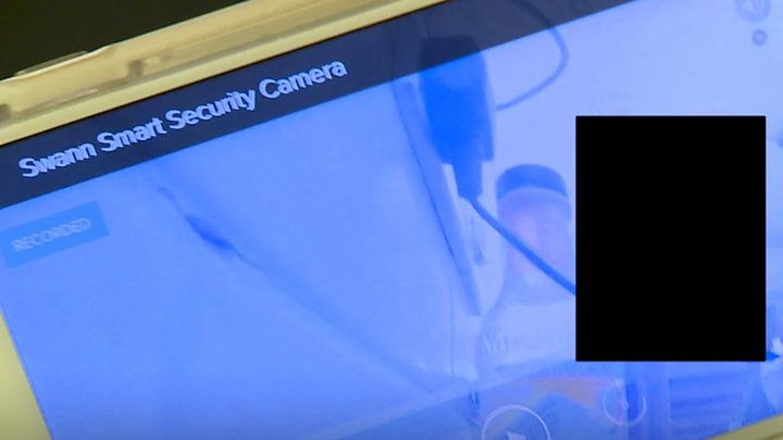 Family kitchen camera sends video to wrong app