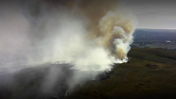 Winter Hill fire could disrupt radio services