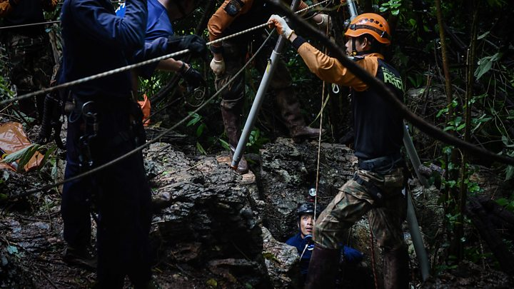 Thai rescuers race to drain water inside cave before more rain comes