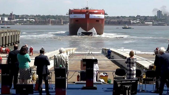 Royals name new polar research vessel in Birkenhead