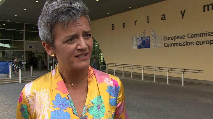Media playback is unsupported on your device                  Media captionJULY Margrethe Vestager says Google acted illegally