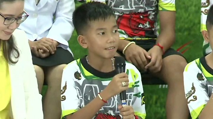Thai cave boys speak to media for first time after dramatic rescue
