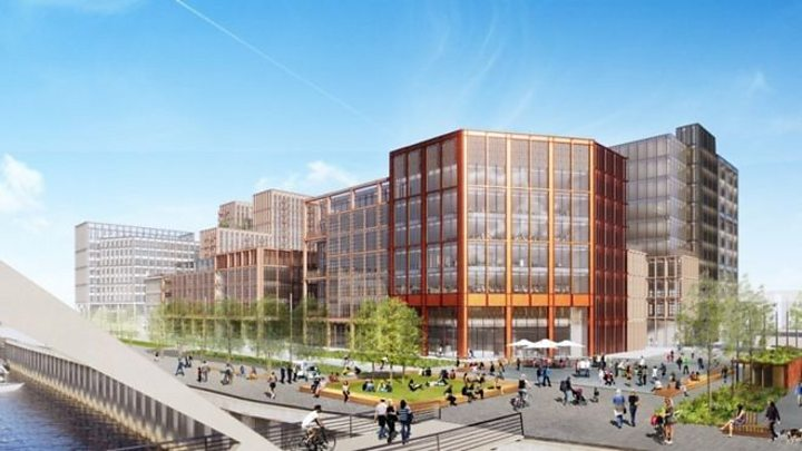 Derelict riverside to become banking hub