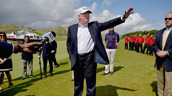 2e0bfd645db Trump Organisation plans 500 new homes at Menie - BBC News