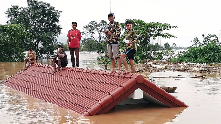 Rescue work under way in villages flooded by Laos dam breach