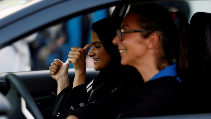 Image result for A Saudi woman reveals her driving permit
