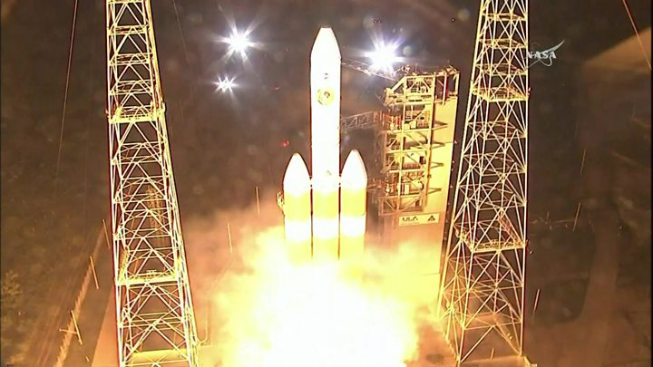 Nasa probe blasts off to the Sun after 60-year project