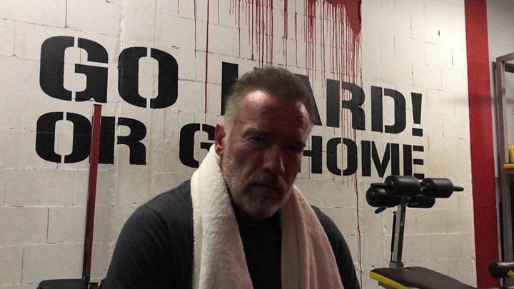 Schwarzenegger message helps inspire struggling fans bbc news