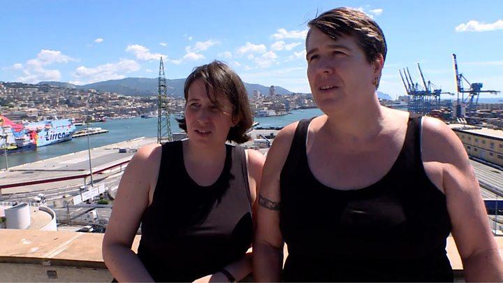 Two drunk lesbians