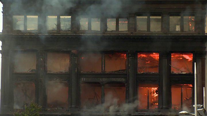 Major fire at Primark store in Belfast city centre
