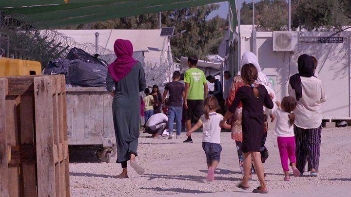 Resultado de imagem para campos de refugiados em Lesbos foto