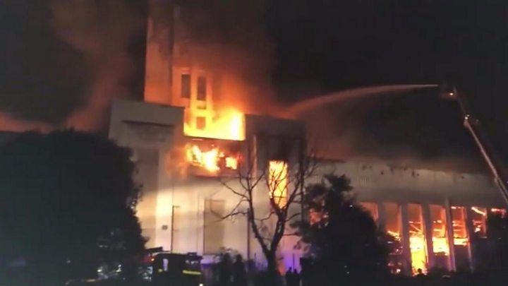 Fire engulfs Littlewoods building in Liverpool