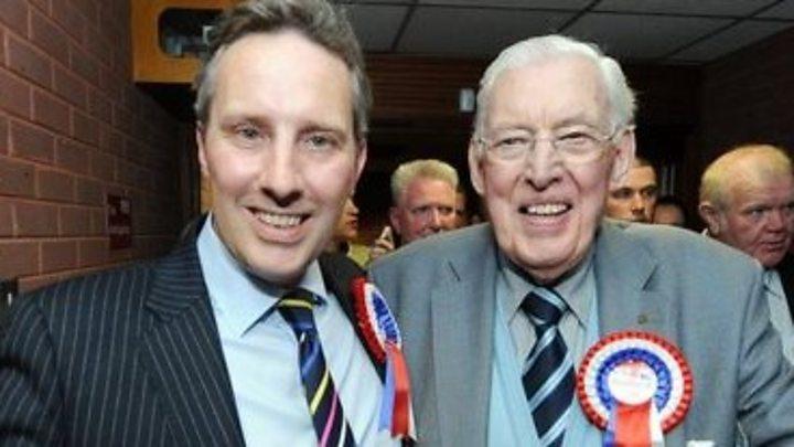 Ian Paisley: DUP MP 'stunned' and 'humbled' at keeping seat
