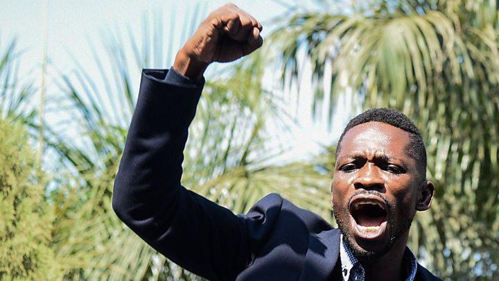 Uganda's Bobi Wine: 'Tortured' pop star MP returns home