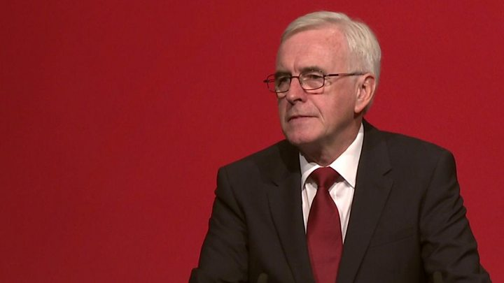 Labour conference: John McDonnell unveils shares plan for workers