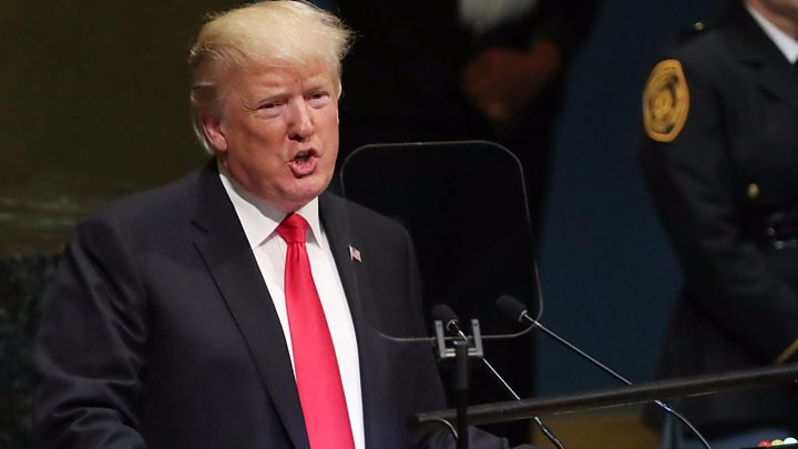 President Trump addresses UN General Assembly in NYC