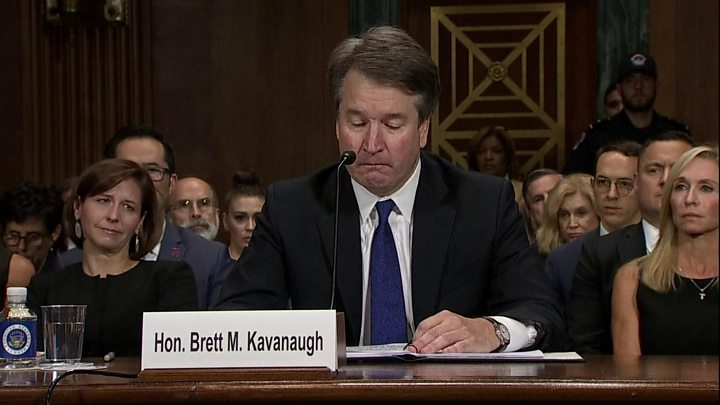 Brett Kavanaugh says family name 'destroyed' by sex assault claim