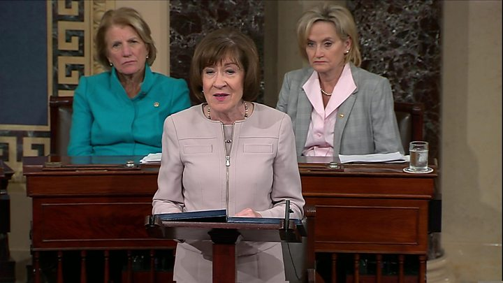 Republican Sen. Susan Collins backs Kavanaugh, paving way for confirmation