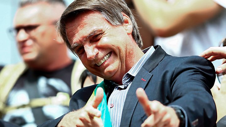 Brazil's right-wing candidate Jair Bolsonaro faces run-off in presidential election