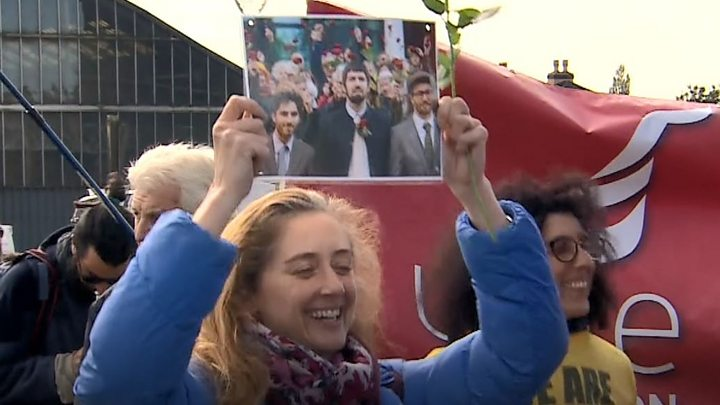 Fracking protesters freed on appeal