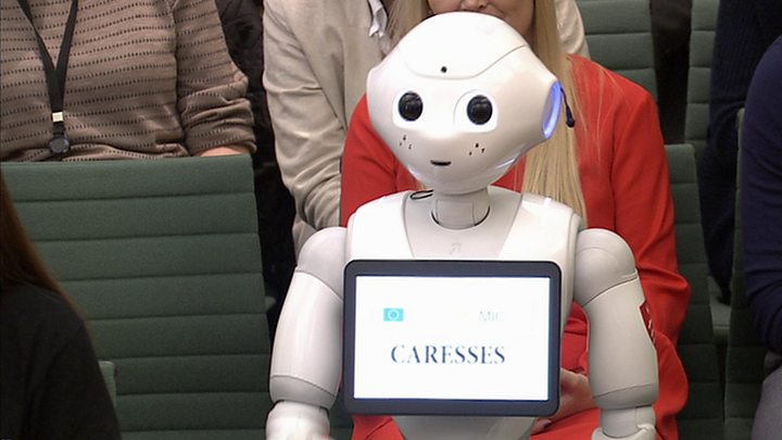 Robot Talks To Mps About Future Of Ai In The Classroom Bbc News