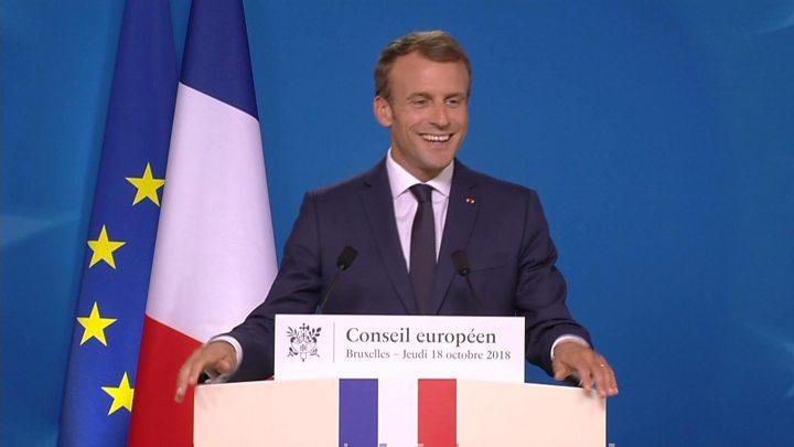 Brexit France S Macron Makes English Faux Pas Over Visas Bbc News