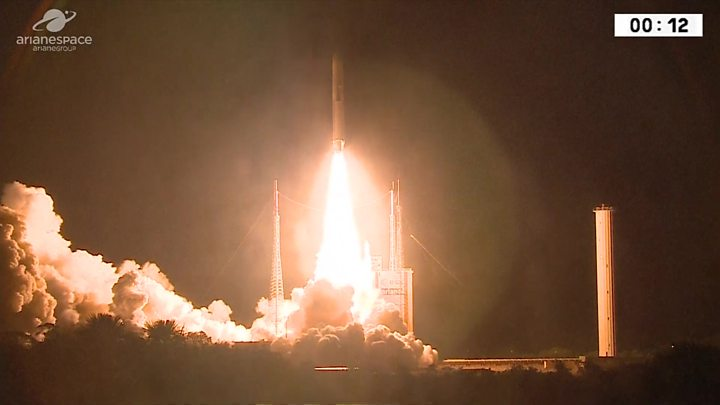 Blast-off for BepiColombo on mission to Mercury