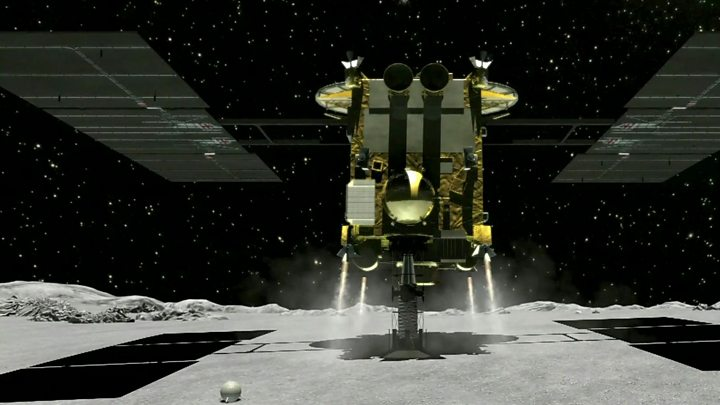 Japanese spacecraft begins a year-long journey home from an asteroid