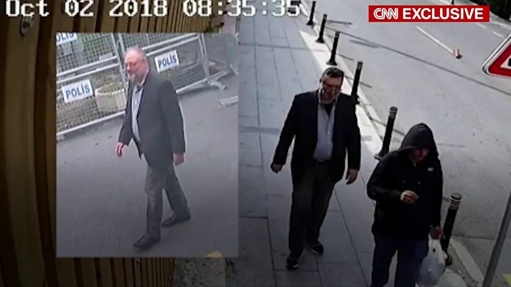 A Saudi agent dressed as murdered journalist Jamal Khashoggi, CNN says