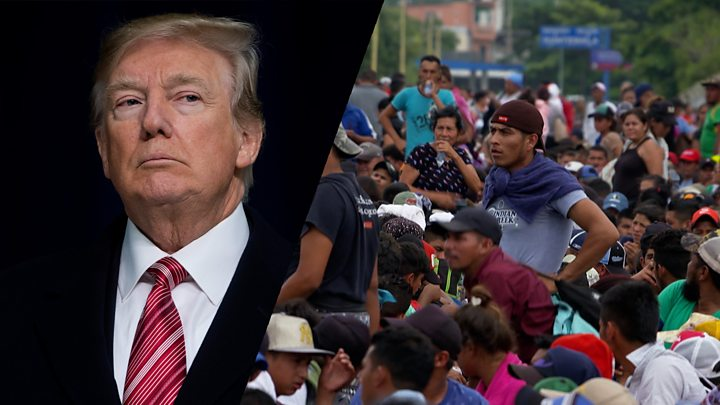 migrant caravan troops unarmed at us mexico border mattis says