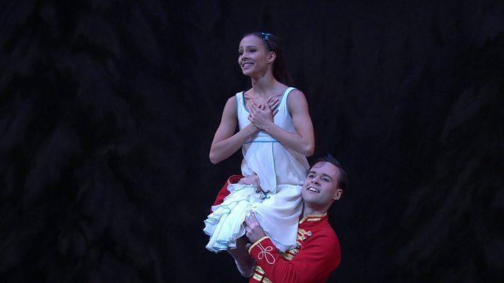 Francesca Hayward performing in the Nutcracker